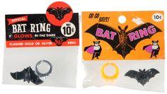PAIR OF BAT RINGS IN DISPLAY BAGS via Hakes