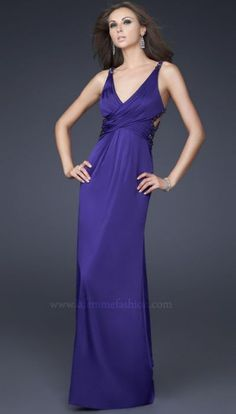 Dancing with the Stars by La Femme Purple Evening Dress 16152