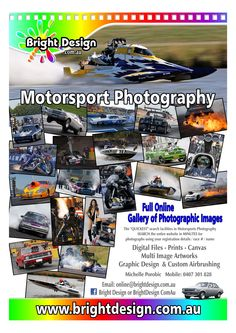 """www.brightdesign.com.au Bright Design now has the """"QUICKEST"""" search facilities in MOTORSPORT Photography!! Allowing viewers to SEARCH the entire website of Australian events within MINUTES for photographs from various events using your registration details / race numbers / name. No need to spend hours searching galleries."""