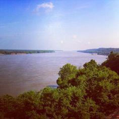 Mississippi River Natchez, MS @ http://hickoryridgestudio49.blogspot.com