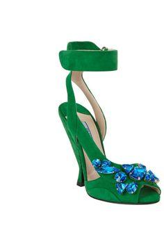 Shoe Gaze: Prada's Jeweled Suede Sandals - The Cut