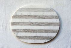 Marble Cheese / Cutting Board in Grey & White Stripe by BD Edition Marble Cheese Board, Cheese Platter Board, Cheese Trays, Cheese Cutting Board, Granite Cutting Board, Cutting Boards, Fern Living, Galvanized Tray, Burke Decor