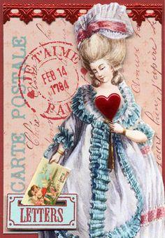 Romantic Marie Valentine ATC 1   Flickr: Intercambio de fotos