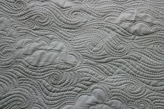 Quilting Is My Therapy Combining Designs - Quilting Is My Therapy.  Clouds and swirls, looks like a windy sky
