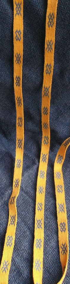 Tablet Weave brocaded yellow and blue by EarthTribes on Etsy