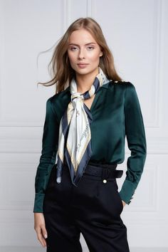 Sexy Blouse, Blouse And Skirt, Hijab Fashion, Fashion Outfits, Women's Fashion, Peg Trousers, Scarf Sale, Satin Blouses, Professional Women