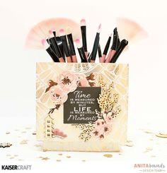 Neat and Crafty: Makeup Brush Box | Kaisercraft DT