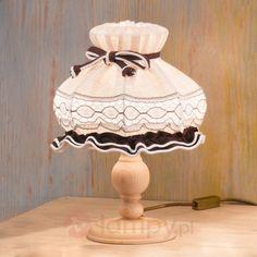 Rustykalna lampa stołowa ELSA z materiału 7254763