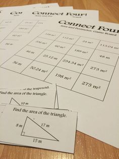 Connect Four: Area and Perimeter game for math in the upper elementary and middle school grades. Students must solve problems and connect four spaces in a row on their game board! Topics include finding perimeters, areas, and circumferences. Great for small groups and math centers!