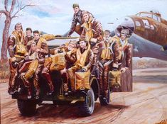 Flying Fortress and Crew Military Art, Military History, American Air, Big Friends, Navy Air Force, Airplane Pilot, Fighter Pilot, Aeroplanes, Nose Art