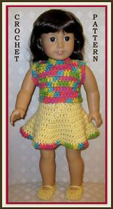 American Doll Crochet Patterns Free | Doll Clothes Crochet Pattern Fits 18 inch American Girl 1 1 | eBay