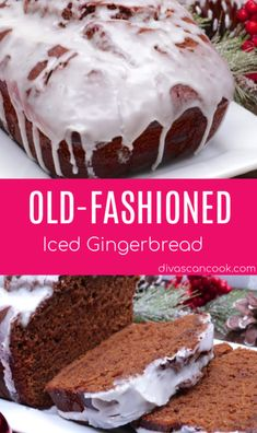 Old Fashioned Gingerbread Recipe, Gingerbread Loaf Recipe, Gingerbread Cake, Loaf Recipes, Dessert Recipes, Desserts, Healthy Recipes, Brownies, Divas Can Cook