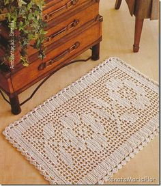 crochet for the home Crochet Carpet, Crochet Home, Love Crochet, Crochet Motif, Beautiful Crochet, Crochet Doilies, Crochet Flowers, Crochet Patterns, Crochet Quilt