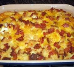 Christmas Breakfast Recipes - Cowboy Eggs n Bacon - 22 Delicious Christmas Morning Breakfast Ideas