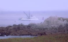 Fishing Boat  Along Monterey Bay Coastline On A Calm Foggy Misty Morning Fine Art Photography Print  http://fineartamerica.com/featured/fishing-boat-along-monterey-bay-coastline-on-a-calm-foggy-misty-morning-jerry-cowart.html?newartwork=true
