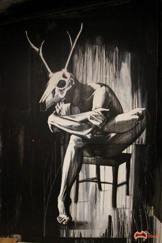 Boneyard by Kaff-Eine based in Prahran, Melbourne Graffiti, Street Art Love, Magnum Opus, Animals Beautiful, Beautiful Things, Inspirational Wall Art, Street Artists, Banksy, Urban Art