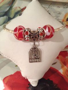 Birdcage Charm Bracelet by CanastotaCreations on Etsy