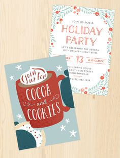 Cocoa Invitation Cocoa Party Invitation Cocoa And Cookies Party
