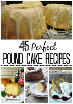 Perfect Pound Cake Recipes - traditional and non-traditional, this is a great collection of pound cake recipes