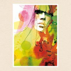 """Herbst"" #illustration #fashionillustration #herbst #colors #green #red #yellow #watercolor #ink #fineartprint #print #artwork #portrait #her #instadaily #акварель #рисунок #портрет #екатеринакоролёва #берлин #ekaterinakoroleva #berlin"