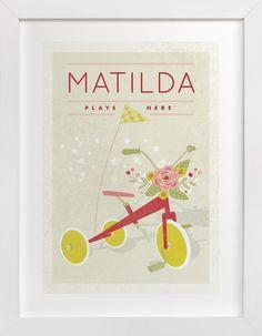 Botanical Tricycle by Yolanda Mariak Chendak at minted.com