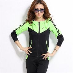 2016 New Spring ᗐ Female's Velvet Sports Suit Set Casual Sportswear Sports  ᓂ Training Suit For Women 2016 New Spring Female's Velvet Sports Suit Set  ...