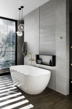 Every bathroom remodel starts with a layout idea. From standard to modern to beach-inspired, bathroom design choices are countless. Our gallery showcases bathroom remodeling ideas. From full master bathroom restorations, smaller Luxury Master Bathrooms, Modern Master Bathroom, Bathroom Design Luxury, Minimalist Bathroom, Modern Bathroom Design, Small Bathroom, Bathroom Ideas, Black Bathrooms, Bathroom Colors