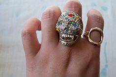 candy skull ring