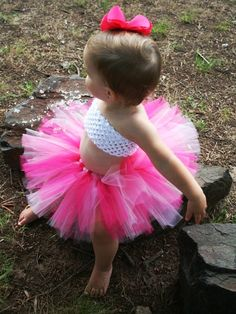 Baby Toddler Girl Pink Birthday Tutu Custom by ASweetSweetBoutique, $30.00