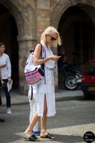 Olga Karput, Kuznetsky Most 20 founder, after Christophe Lemaire fashion show. Follow me on Instagram @styledumonde, Pinterest, Twitter, TumblrandFacebook