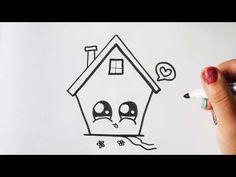 HOE TEKEN JE EEN SCHATTIG HUIS? LEREN TEKENEN - YouTube Cute Disney Drawings, Wallpaper Iphone Disney, Pencil Art Drawings, Zentangle, Spiderman, Doodles, Greeting Cards, Girly, Scrapbook