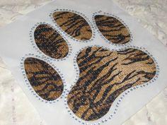 Diy Heat Transfer of a Beautiful Tige Striper Paw by cthorses66, $9.99