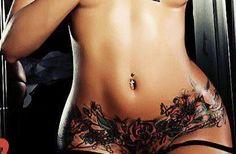 waist line hips....like permanent panties! nice!HOTT