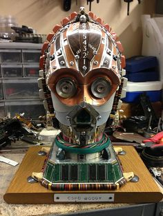 C3PO made from Scrap Electronics