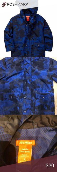 9c5a80cf9a23d Joe Fresh EUC Blue Camo Raincoat 2T Barely used rain coat 2T boy. Camo  design