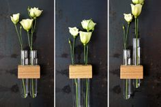 30 Handmade Etsy Finds We LOVE #refinery29 http://www.refinery29.com/best-nyc-etsy-stores#slide1 MossTwig Magnetic Test Tube Flower Bud Vase, $26, available at Etsy.