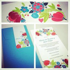 Invitaciones con flores de todos los colores!