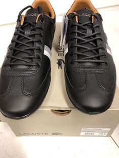 0b1d7f02a Lacoste Misano Black Grey Mens 35CAM0133-237  fashion  clothing  shoes   accessories