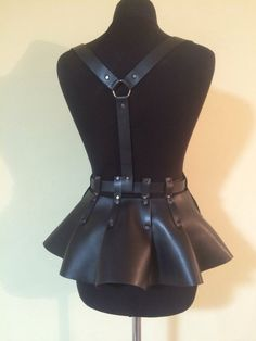 Basqueleather basquevegan leather skirt by MONAMORaccessories
