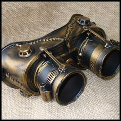 Fancy - Steampunk Goggles Glasses lenses loops by oldjunkyardboutique