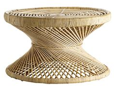 Always a sensible choice for the home, Rattan and Wicker furniture has been given a modern makeover characterised by clean lines and quirky applications Rattan Stool, Rattan Coffee Table, Wicker Furniture, Cool Furniture, Warehouse Home, Garden Table, Traditional House, Blue Fabric, Decoration