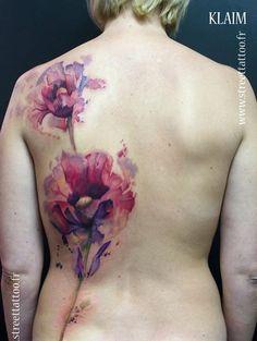 Watercolor Poppy - 60 Beautiful Poppy Tattoos <3 <3