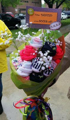 Dance recital sock bouquet