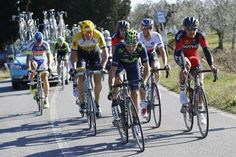 Gallery #Stybar wins 2015 #StradeBianche - Peter Sagan (Tinkoff-Saxo, rear) begins to get dropped from the breakaway
