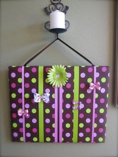 Hair Bow Organizer. for the girls. i think i will add hooks at the bottom.