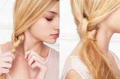 Knot Your Average Pony: If you can tie a shoelace, you can perfect this gorgeous hair style. Just tie two strands of hair in a knot and secure with a clear tie. Tease the final style a bit to look right on point. (via The Beauty Department)
