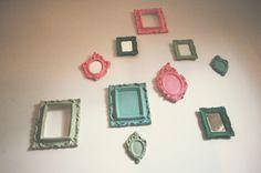 D.I.Y: Molduras de gesso coloridas para parede! » lDepois dos Quinze | Bruna Vieira