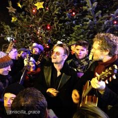 "Bono from U2  by http://instagram.com/priscilla_grace ""Bono singing a few Christmas numbers on Grafton Street tonight! #Dublin #GraftonStreet #Bono"" http://instagram.com/p/iUpsc0uNab/#  #u2NewsActualite #u2NewsActualitePinterest #u2 #bono #PaulHewson #picture #2013"