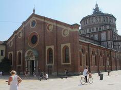 """MILAN- Santa Maria delle Grazie -Housing """"The Last Supper"""" by Leonardo da Vinci  (completed1469) - Unesco world heritage site"""