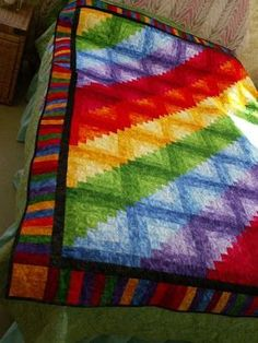 rainbow stars quilt pattern | joyce quilts silly goose quilts rainbow log cabin